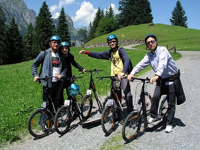 스위스 알프스에서 자전거하이킹