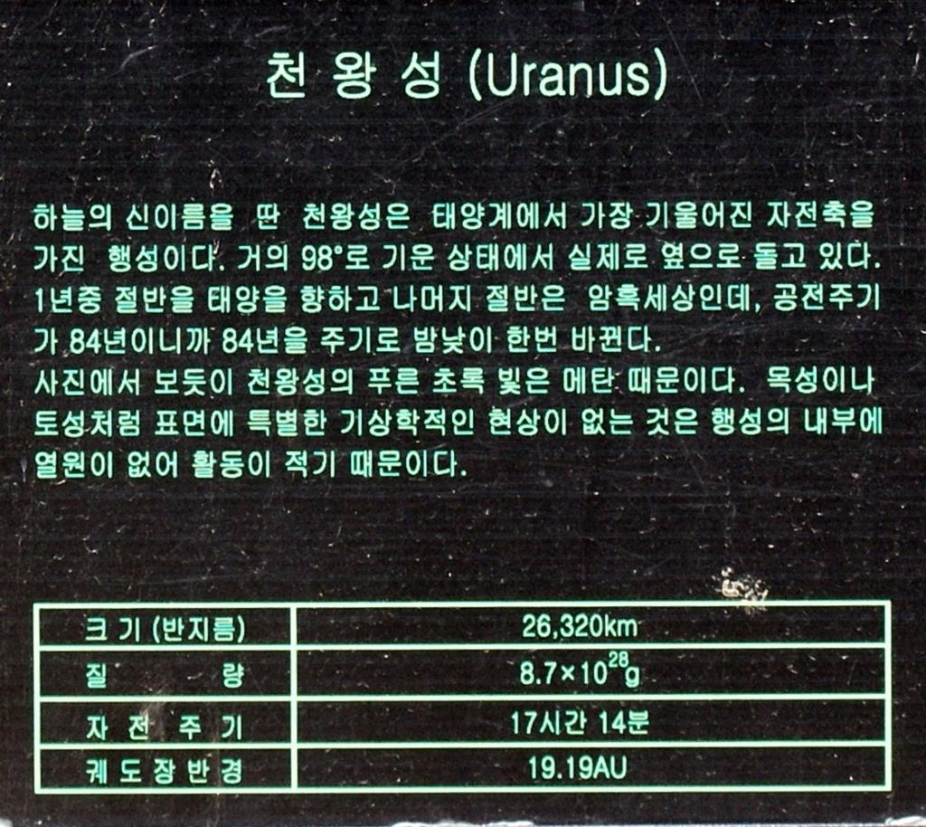 천왕성정보