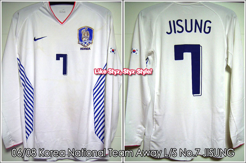 06/08 Korea National Football Team Away L/S No.7 JISUNG Player Issue