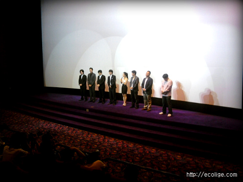 <해결사>주연배우들의 무대인사 장면^^