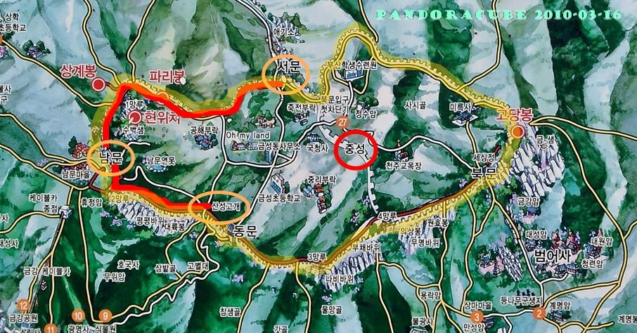 금정산성 지도