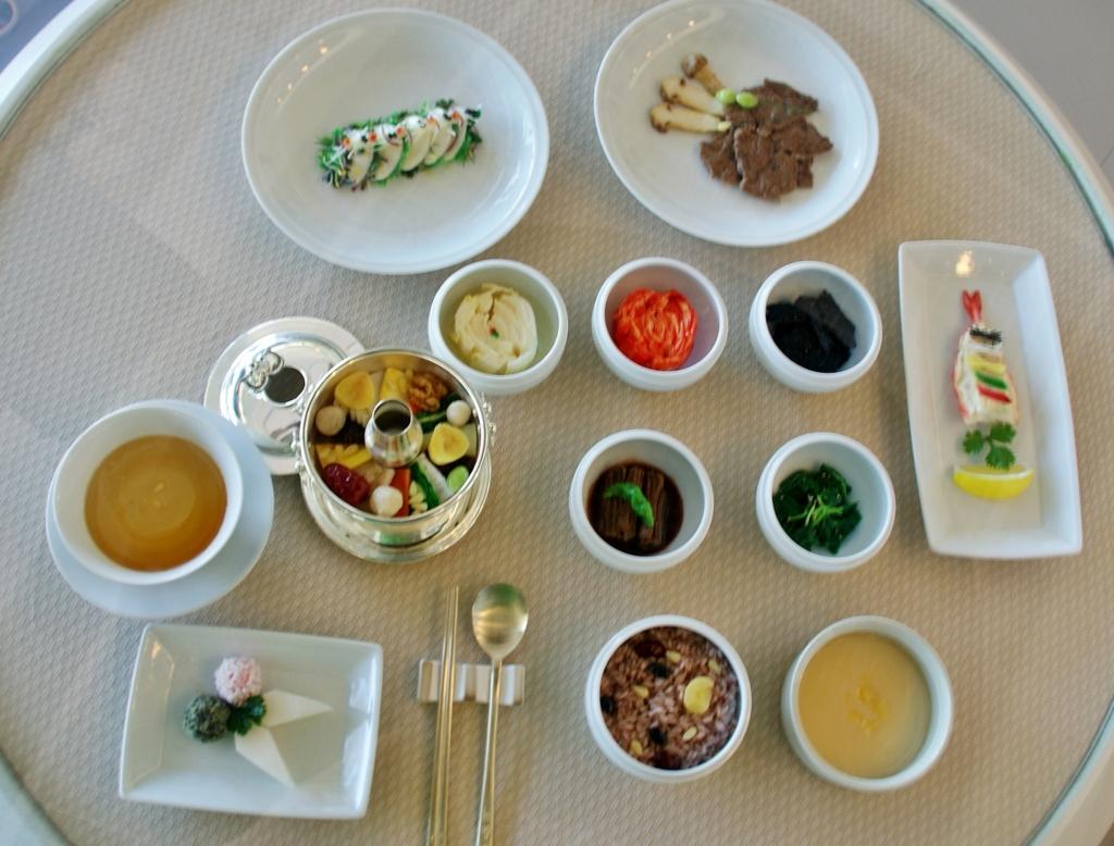 외국정상들에게 대접한 한국식사