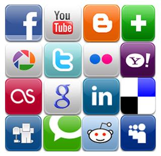 다양한 소셜 미디어